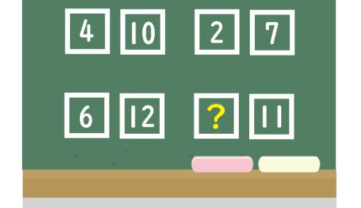 四角に入る数字はなに?|おかしな数字クイズ